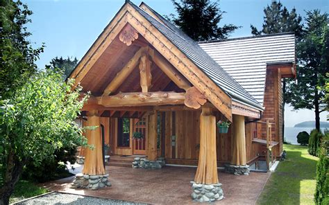 Post House by Gibsons Post And Beam West Coast Log Homes