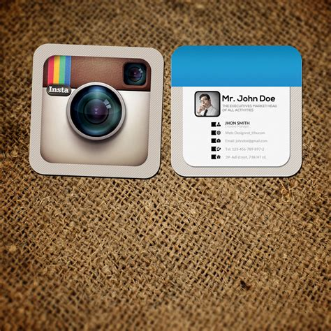 business card template with and instagram logo mini instagram social card logos graphics