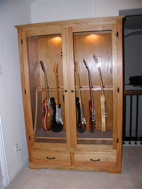 guitar armoire guitar cabinet by mike podurgiel lumberjocks com