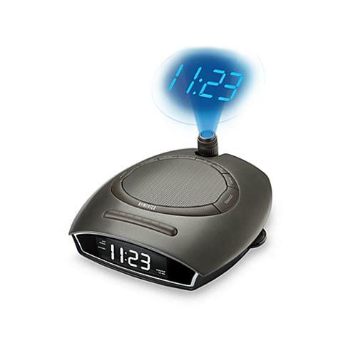 homedics 174 soundspa auto set clock radio with time projection bed bath beyond