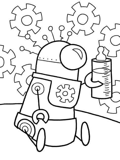 preschool robot coloring pages robot coloring pages 360coloringpages