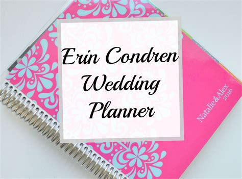 Wedding Planner Reviews by Erin Condren Wedding Planner Review
