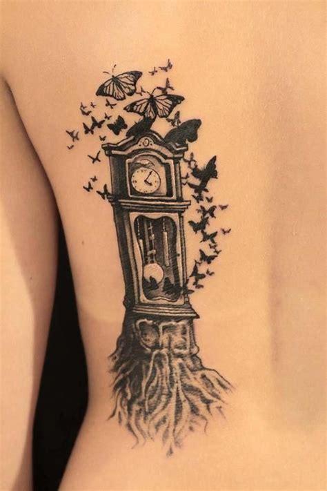 grandfather clock tattoos beautiful