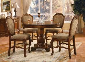 Chateau de ville round counter height dining set table and 4 chairs