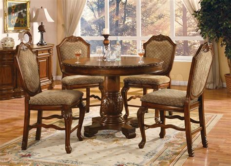 dining room counter height sets chateau de ville 5 pc round counter height dining set