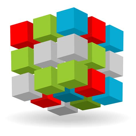 vector for free use abstract 3d cubes