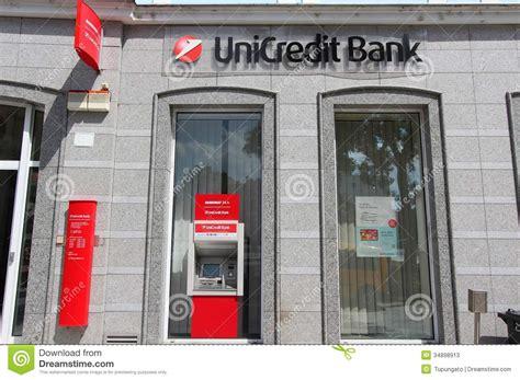 unit credit bank unicredit bank editorial stock photo image 34898913