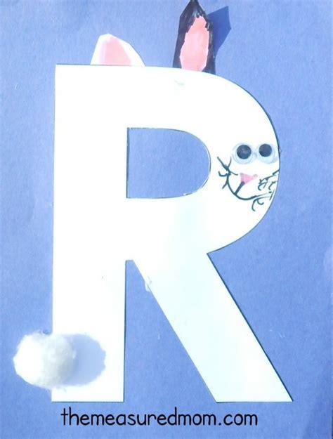 R Rabbit letter r crafts the measured