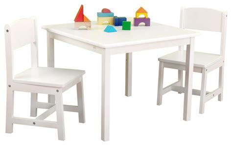 aspen table and chair set white by kidkraft modern