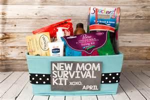 New mom survival kit