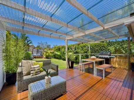 Using Clear Laserlight Roofing Over The Pergola Deck Lets Pergola Clear Roof
