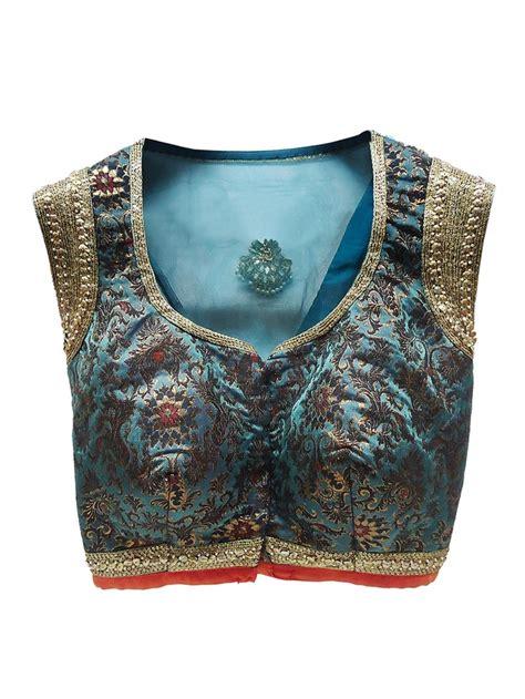 blue designer blouse  french curve beautiful blouse