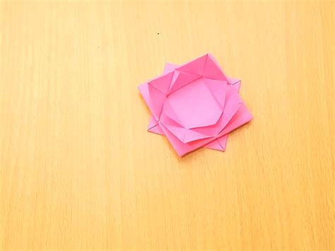 How To Make Lotus From Paper - how to make an abstract origami lotus 8 steps with pictures