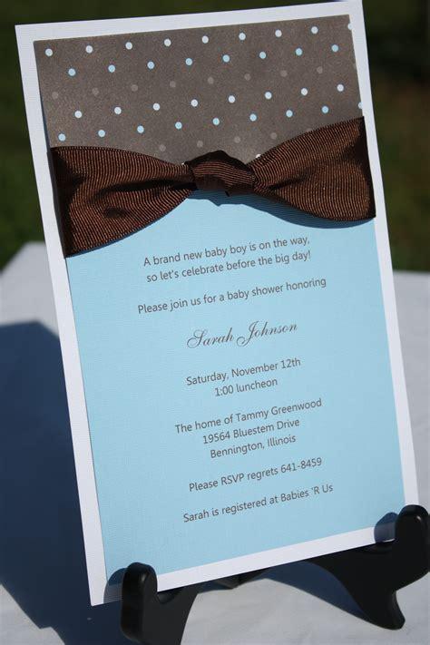Handmade Boy Baby Shower Invitations - handmade baby shower invitations theruntime