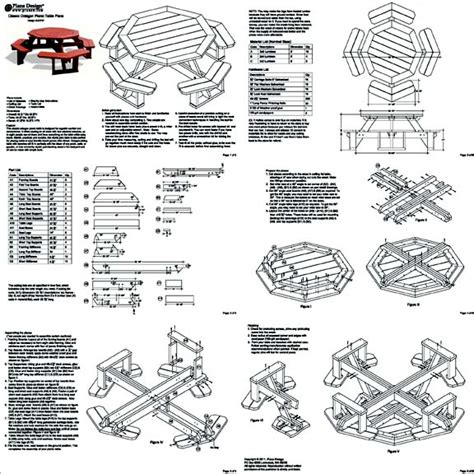 octagon picnic table plans pdf classic octagon picnic table woodworking plans