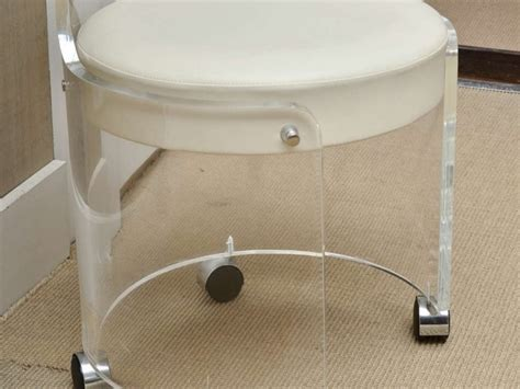 White Stool With Wheels by Furniture Glossy Metal Vanity Stool With Wheels Plus