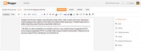 cara membuat readmore blogspot cara membuat readmore pada blog falah kharisma