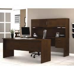 U Shaped Computer Desk With Hutch Bestar Harmony U Shape Computer Desk With Hutch Reviews