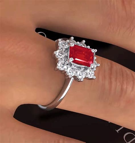 Ruby 9 10ct ruby 1 10ct and 18k white gold ring item fet24 ty