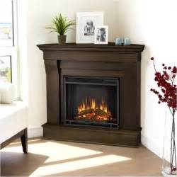 corner fireplace electric real chateau electric corner fireplace in espresso