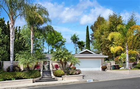 music house laguna niguel wallpaper palm trees garage laguna niguel road trees the bushes fence steps