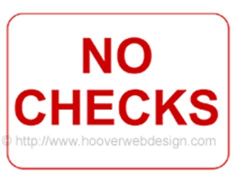What Dont Background Check Free Printable No Checks Temporary Sign