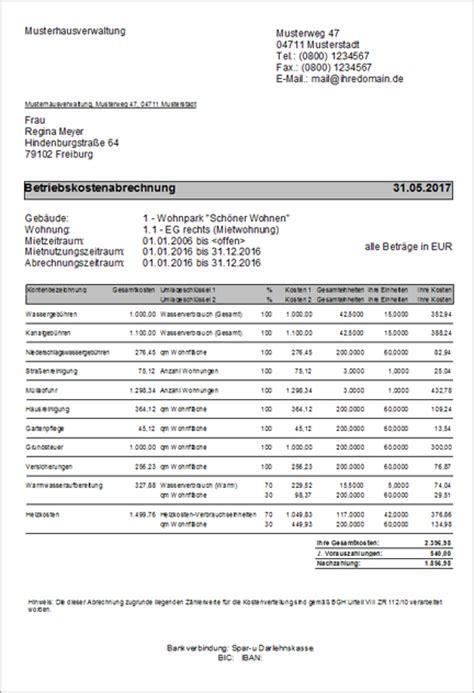 Muster Rechnung Hausverwaltung Lexware Hausverwalter