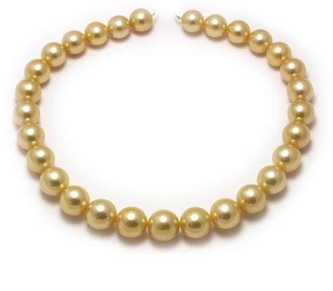large golden south sea pearl necklace with a 15mm gold pearls