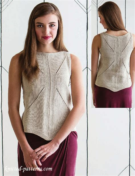 knit a tank top s tank top knitting pattern free free knitting