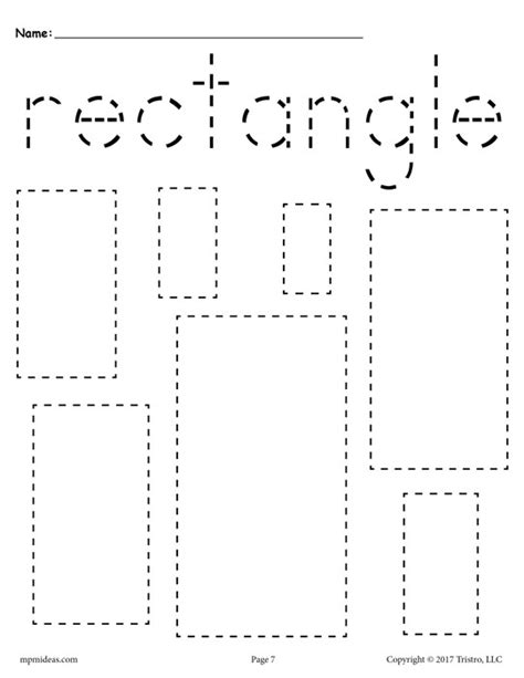 triangle pattern to trace 12 free shapes tracing worksheets circles squares