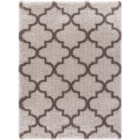 hanford shag rug home decorators collection hanford shag light oak 7 ft 10 in x 10 ft area rug 70010522403058