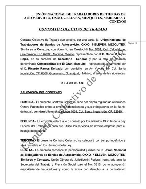 convenio colectivo de trabajo de los obreros de maestranza contrato colectivo de trabajo oscar