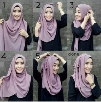 tutorial jilbab pasmina bahan kaku cara memakai pashmina simple tanpa ciput tutorial hijab
