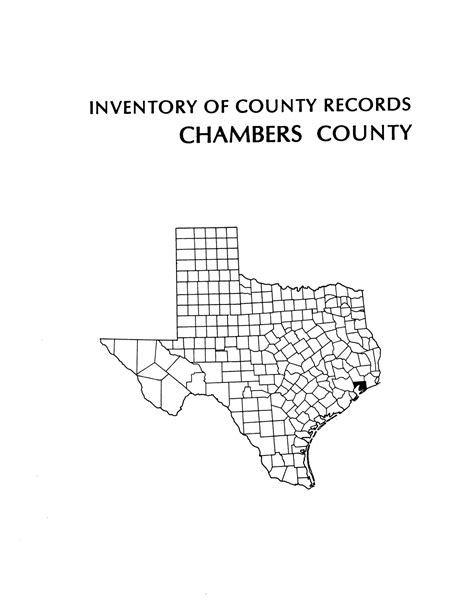 Chambers County Court Records Inventory Of County Records Chambers County Courthouse Anahuac The Portal