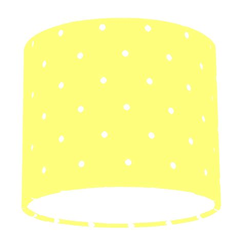 polka dot l shade clarke and clarke yellow dotty polka dot drum l shade