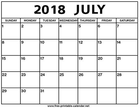 18 month calendar for writers july 2018 december 2019 books july 2018 calendar print calendar from free printable