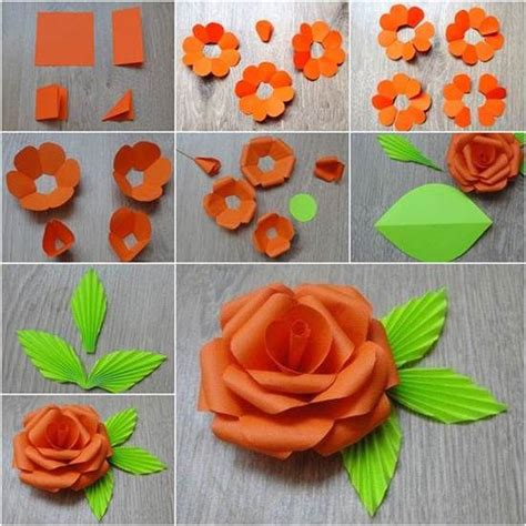How To Make Easy Paper Flowers For Children - 40 origami flowers you can do and design