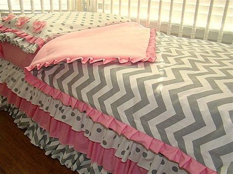 Pink And Gray Chevron Crib Bedding by Pink And Grey Chevron Toddler Crib Bedding 3 Pillow
