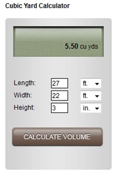 Cubic Yard Estimator Cubic Yard Calculator Deck