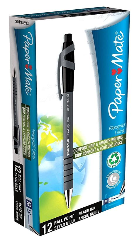 Pen Paper Kenko Gel Pen K 1 papermate flexgrip ultra pen with medium tip 1 0 mm black ink pack of 12 co uk