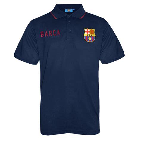 Tshirt Barcelona Navy fc barcelona official football soccer gift mens crest polo shirt navy blue