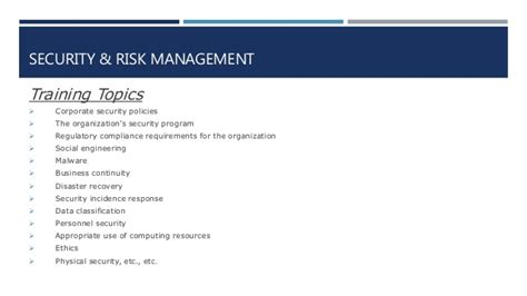 Csuci Mba Requirements by Cissp Security And Risk Management