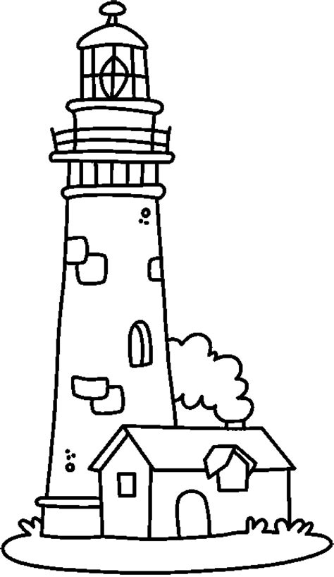 lighthouse coloring page coloring home