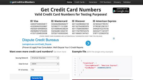 Sle Credit Card Number In Australia Getcreditcardnumbers Generates Quot Real Quot Numbers For Use In Free Trials
