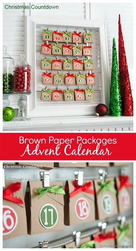Paper Craft Calendars - advent calendar advent calendars and brown