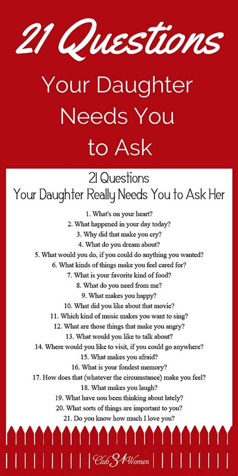 printable relationship questionnaire free printable 21 questions your daughter really needs