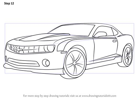 how to draw a convertible step by step cars draw cars learn how to draw a chevrolet camaro sports cars step by