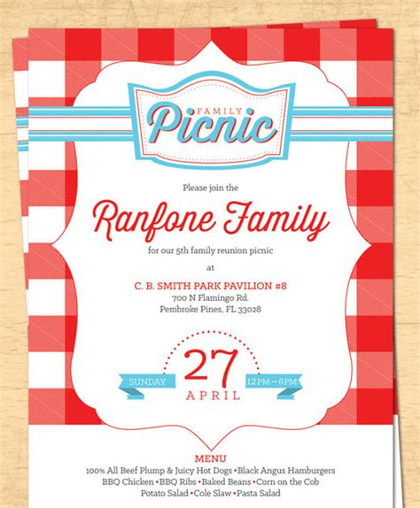 26 Picnic Invitation Templates Psd Word Ai Free Premium Templates Picnic Flyer Template Word