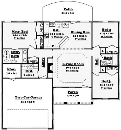 open layout ranch house plans plan 11702hz open layout ranch home plan future house open layout and house