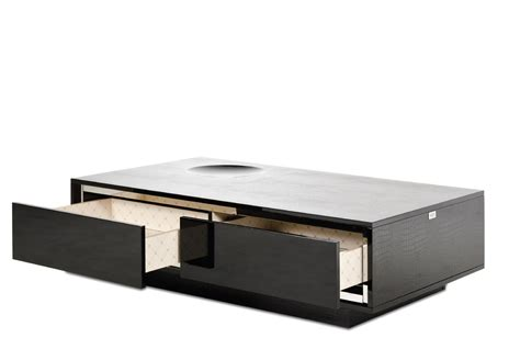 black coffee table with drawers a x grand modern black crocodile lacquer coffee table with